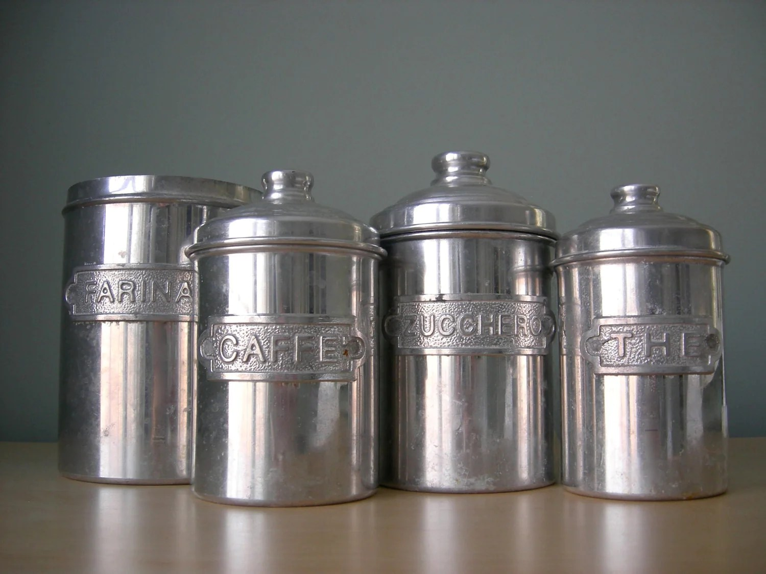 tuscan kitchen canisters undermount corner sink italian canister set by tippleandsnack on etsy