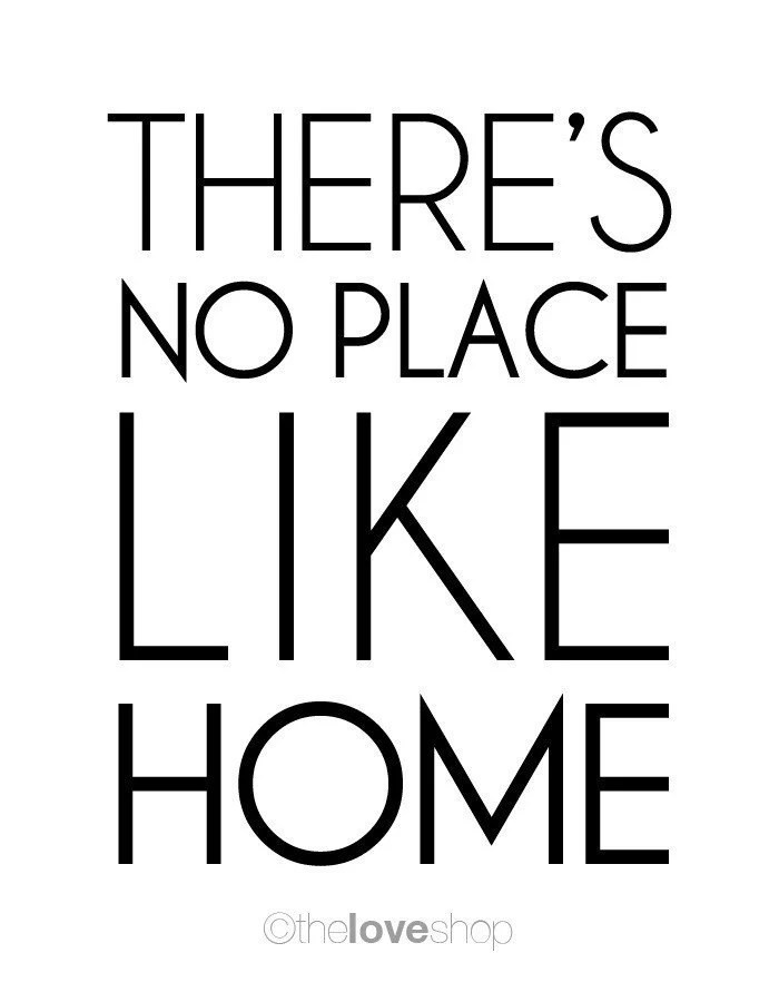 There's No Place Like Home Modern Deluxe 8x10 inch by