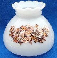 Milk Glass Lamp Shade Hurricane Flower Globe Vintage White