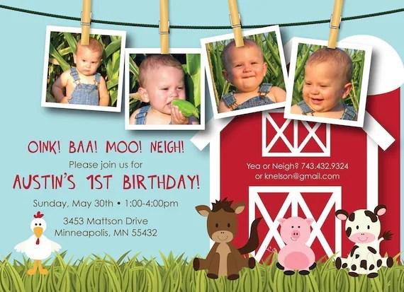 Custom First Birthday Invitations