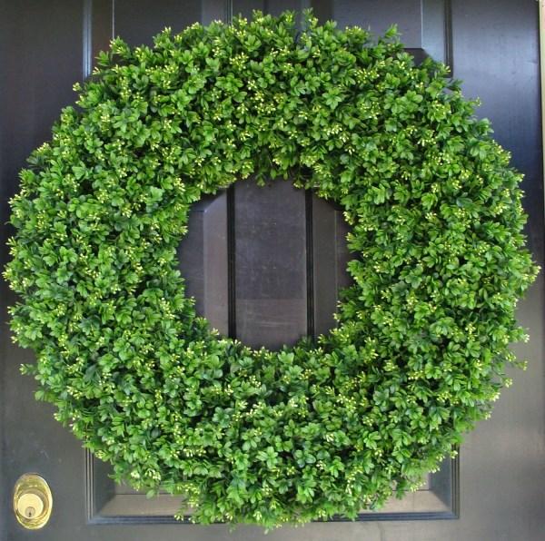 28 Xxl Artificial Boxwood Wreath Oversized