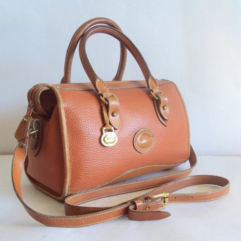 DOONEY AND BOURKE Brown Leather Satchel Purse by pascalvintage