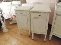 Shabby Chic White Nightstand
