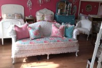 shabby chic sofa couch chenille bedspread by ...