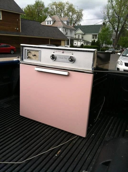 Vintage Pink Wall Oven 1950 S General Electric GE Kitchen