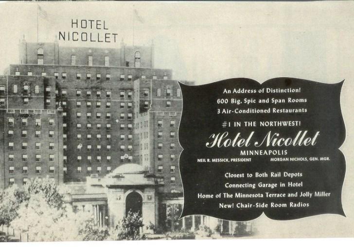 Old Nicollet Hotel Minneapolis