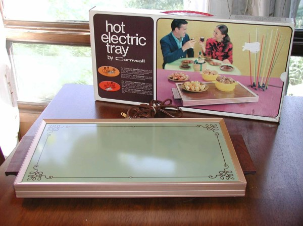 Electric Food Warmer Tray Cornwall In Avocado Green