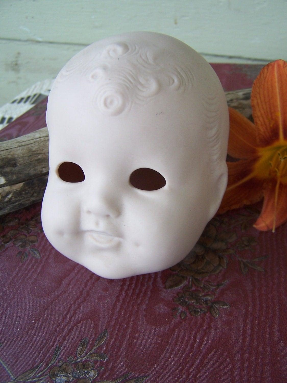 Vintage Porcelain Doll Head McNees Mold with Sleepy Eye