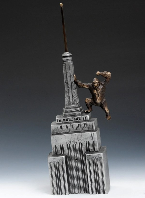 King Kong Coin Bank Cast Aluminum And Bronze Table