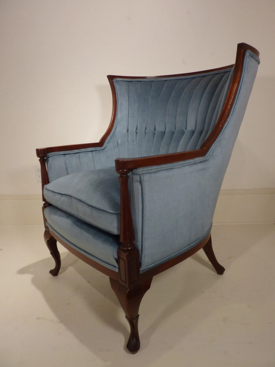 Retro Wing Chair Vintage Channel Back Wing Chair