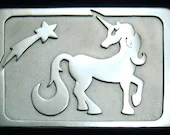 Sterling Silver Unicorn Belt Buckle