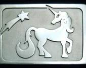 Sterling Silver Unicorn Belt Buckle