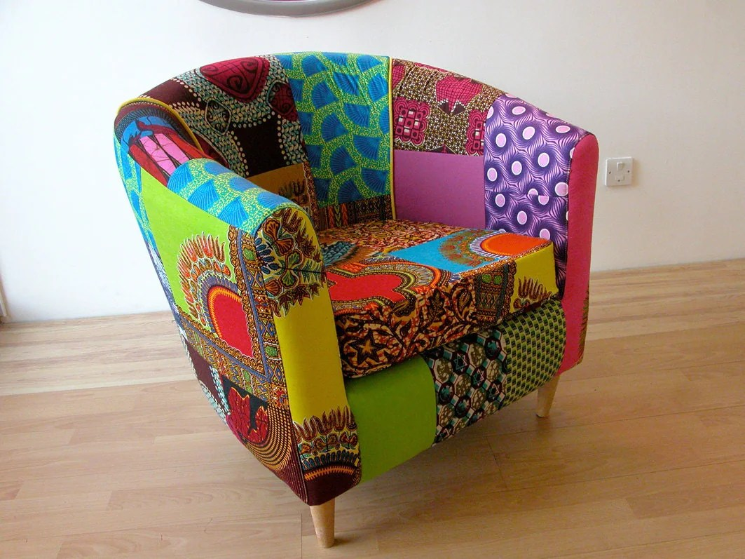 tub fabric accent chair patchwork who sells papasan chairs technicolour designed by ray rayclarkeupholstery