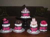 Items similar to Leopard mini Diaper Cake Baby Shower ...