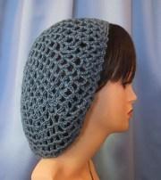 crocheted snood hair net retro