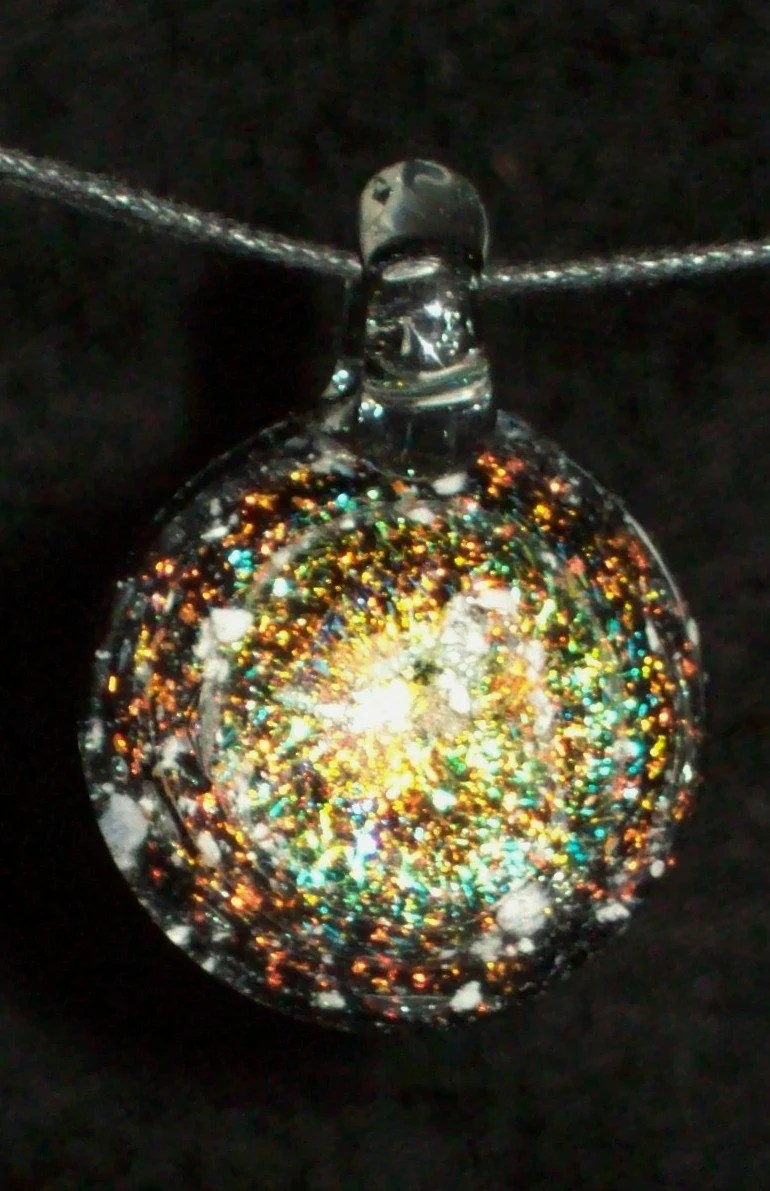 Cremation Glass Jewelry Remembrance Keepsake Necklace Pendant