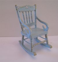 Duck egg blue Rocking chair hand painted by ...