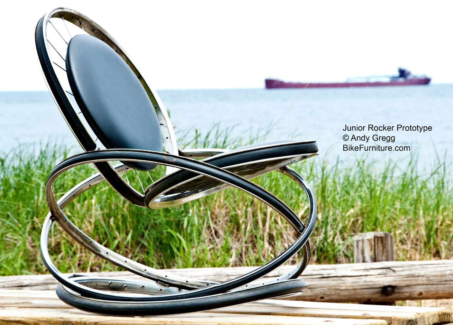 the bike chair dreamwave massage recycled part rocking with black by bikefurniture