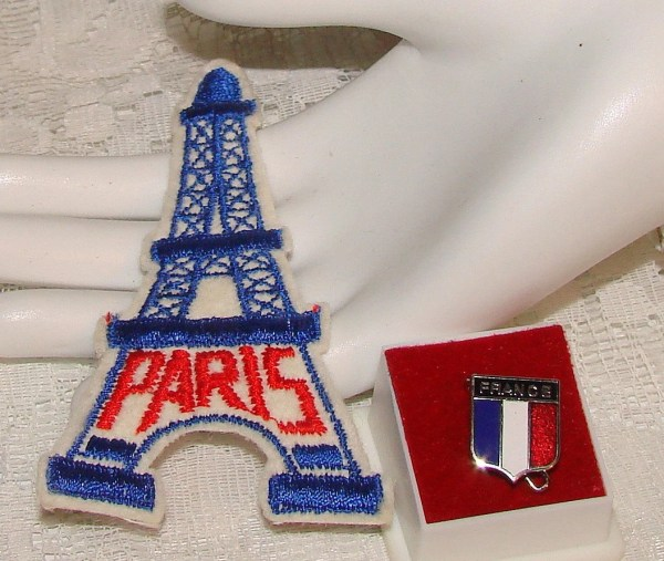 Paris Eiffel Tower Patch And France Pin Critterstreasures