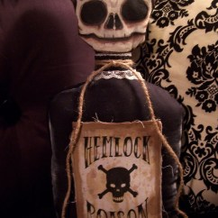 Average Size Of A Sofa Black Leather L Shape Hemlock Poison Bottle Pillow Doll By Macabre