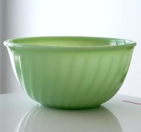Fire King Jadite Swirl 9 Inch Mixing Bowl