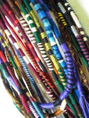 custom striped hair wrap extension