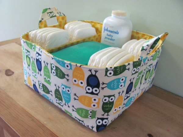 Fabric Diaper Caddy Organizer Hipbabyboutique