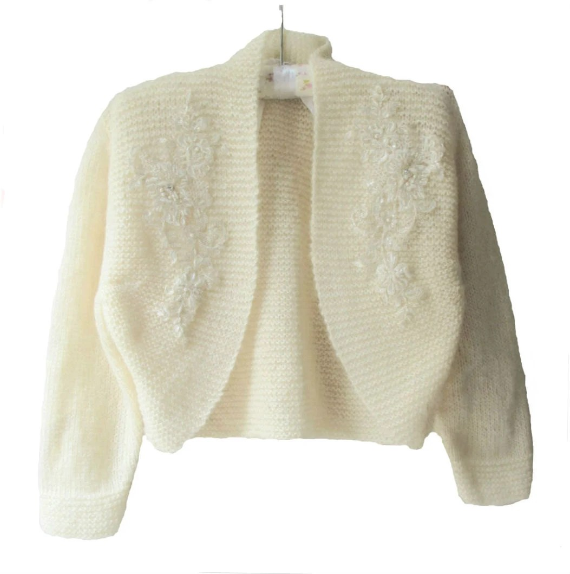 Plus Size Bridal Bolero Shrug 34 sleeve by crochetbutterfly