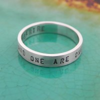 Promise Ring Quote or Message Ring with Personalized Text