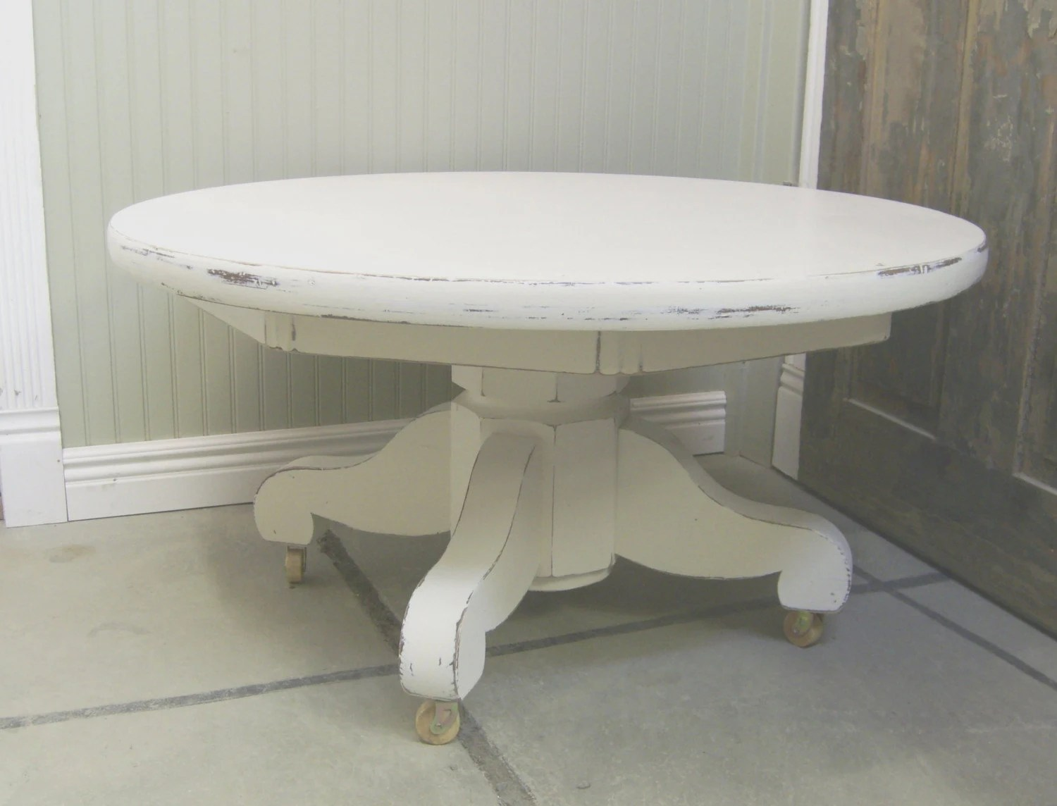 Distressed White Coffee Table