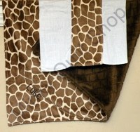 Kit Minky Baby Blanket in Giraffe/Brown Snuggle by