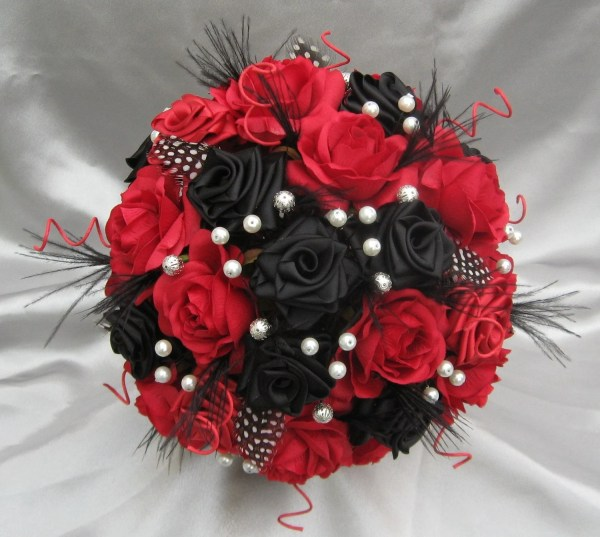20 Black And Red Flower Arrangements Pictures And Ideas On Stem
