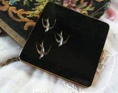 Enamel Inlaid Compact Vintage 1930's Germany
