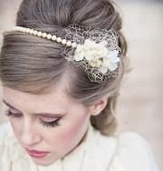wedding hair vintage romance pearl