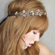hippie chic bohemian tie headband