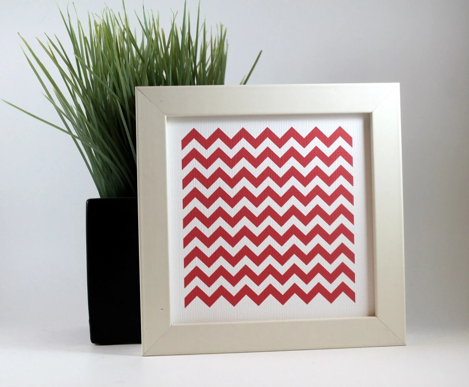 Chevron Zig Zag Geometric Wall Art Home Decor Print - Fuchsia - craftedbylindy