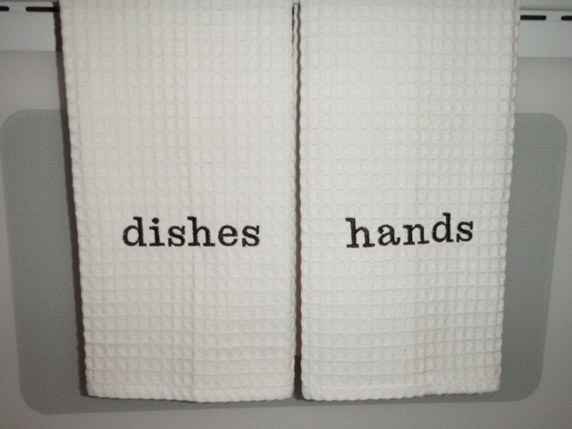 Kitchen Hand and Dish Towels You pick the tread color