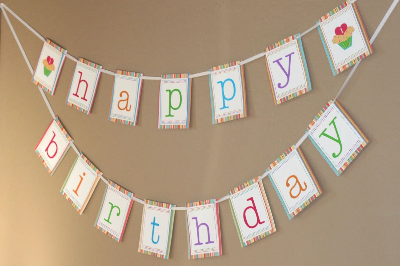 printing birthday banner