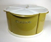 Vintage Storage Containers on Lazy Susan