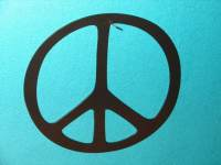 Peace Sign Metal WALL DECOR Art Home 12 in Diameter Peace