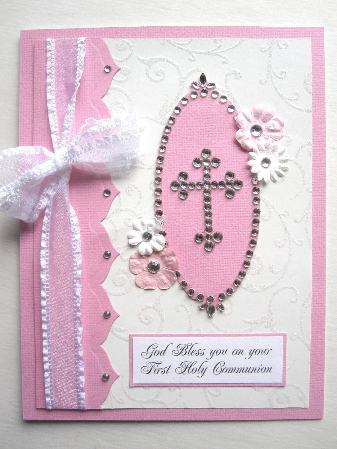 First Communion Card For Girl Can Be PERSONALIZED