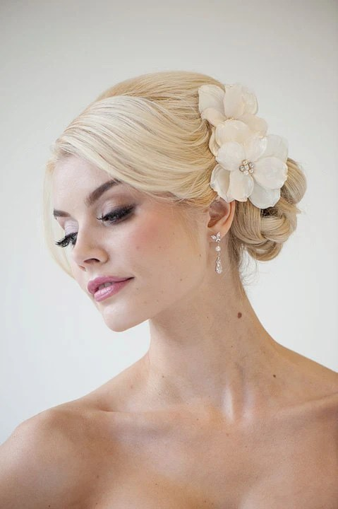 Bridal Flower Hair clips Wedding Hair Accessory Fascinator