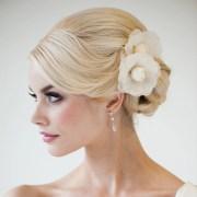bridal flower hair clips silk camilla