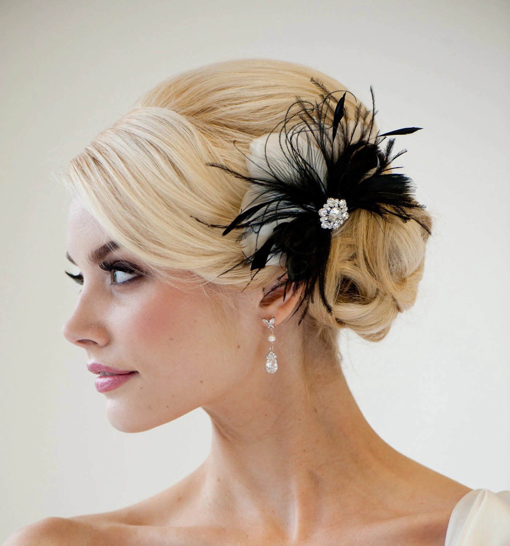 Bridal Fascinator Wedding Hair Accessory by PowderBlueBijoux