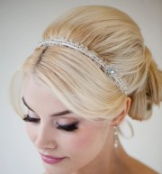 bridal headband ribbon