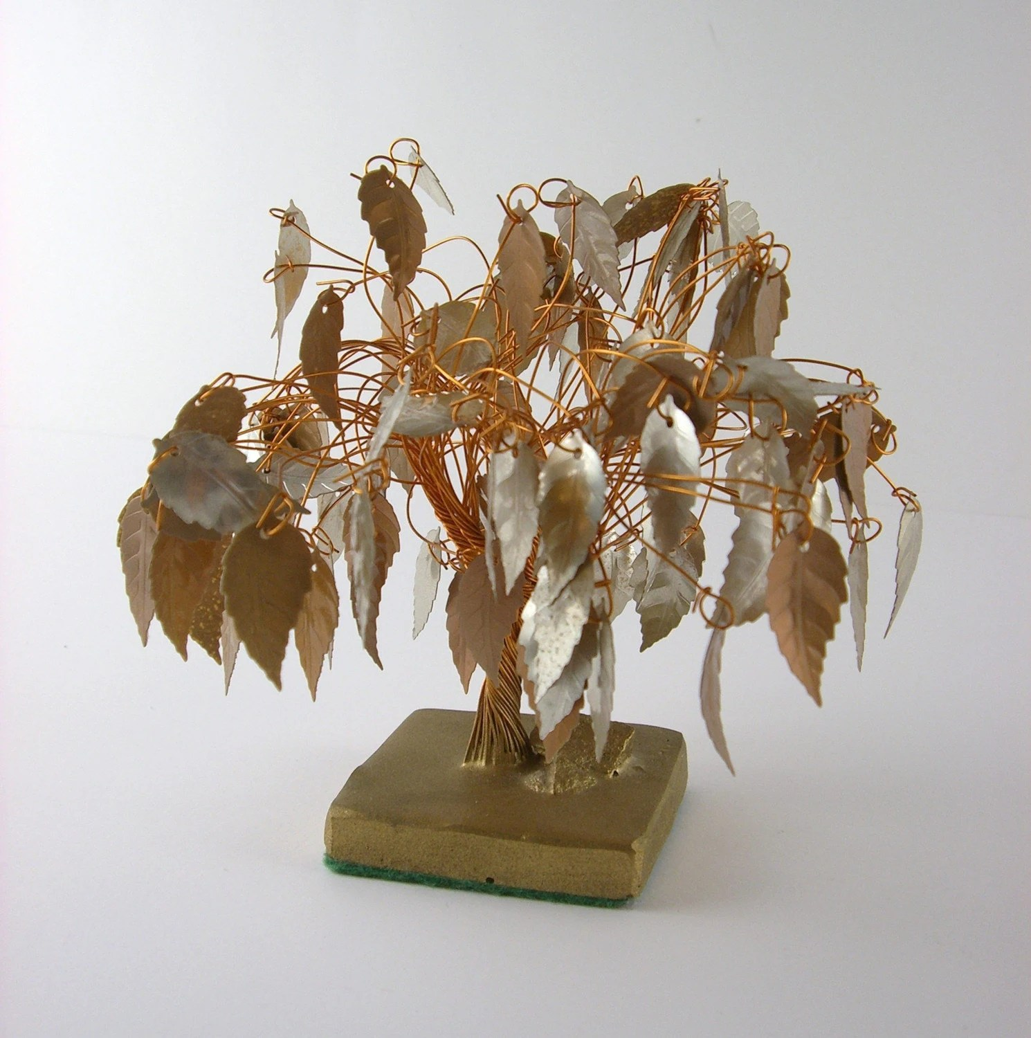 Small Twisted Wire Metal Tree Sculpture