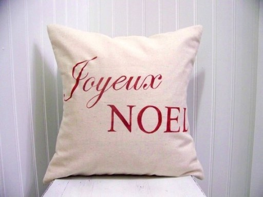 Etsy Christmas pillow decor