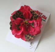 hot pink and leopard print flower