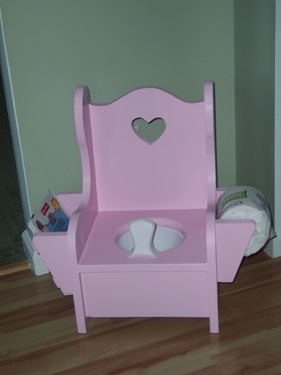 Boys Potty Chair Wooden Potty Chair With Book Rack And Toilet Paper