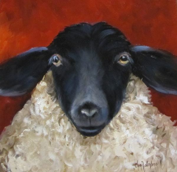 Sheep Painting Lester' Cousin Lonnie Original Oil